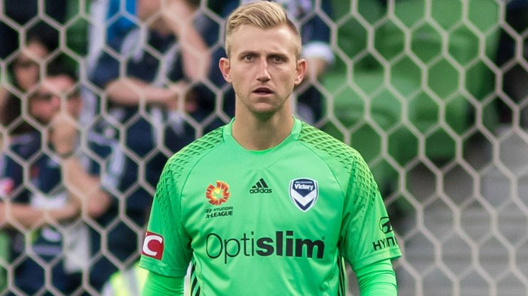 Melbourne Victory goalkeeper Matt Acton.