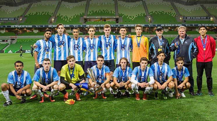 Rowville SC has won the Melbourne Victory WorkSafe Victoria School Sport Victoria Premier League boys' title.