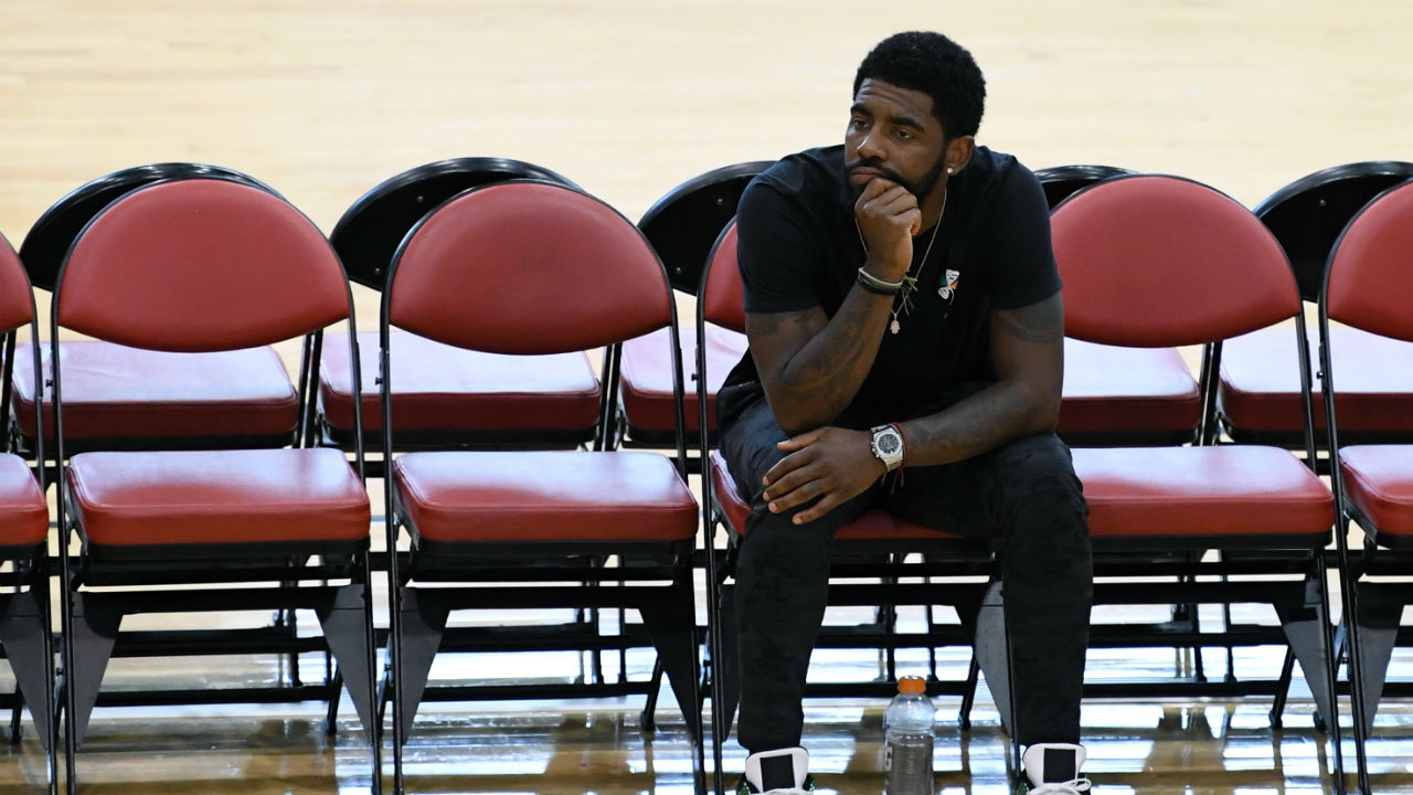 Celtics point guard Kyrie Irving shares an update on his injury recovery