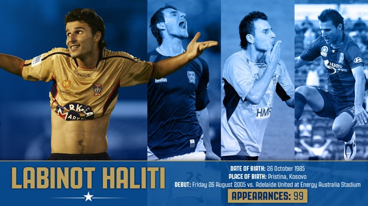 Labinot Haliti could play his 100th Hyundai A-League game for the Jets on Saturday