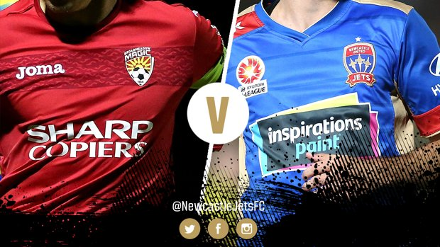 Newcastle Jets will play Broadmeadow Magic at Magic Park on Wednesday night