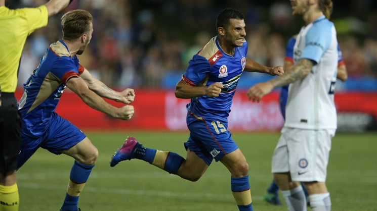 Jet Andrew Nabbout has scored three goals against Melbourne City this season