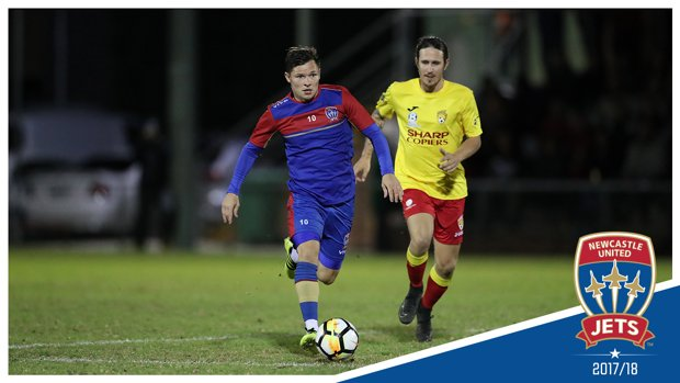 Jets midfielder Wayne Brown charges forward during #MAGICvJETS