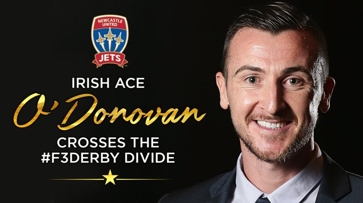 Prolific Irish striker Roy O'Donovan will join the Jets in June