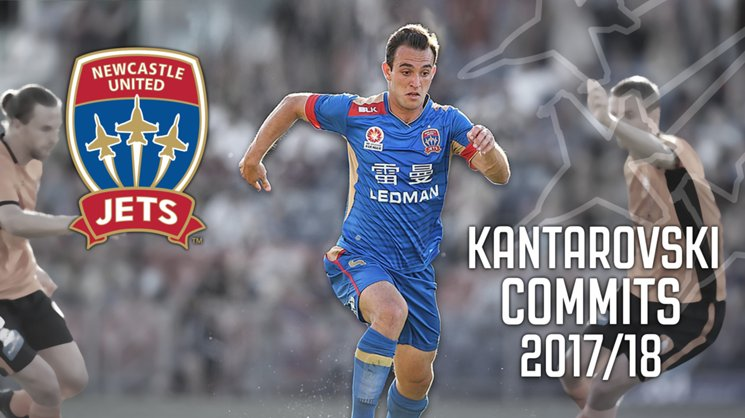 Local product Ben Kantarovski has been retained by Newcastle Jets Head Coach Ernie Merrick