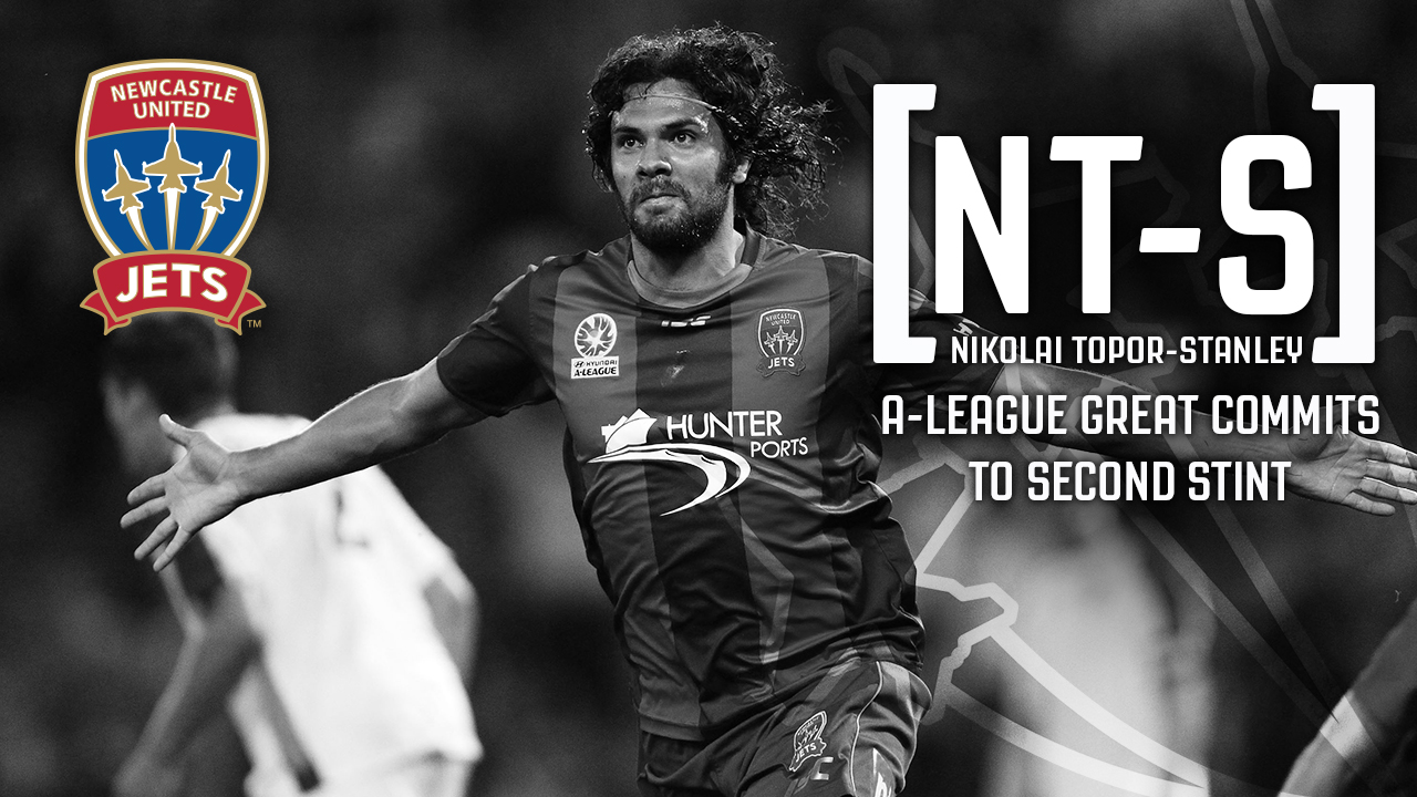 Experienced defender Nikolai Topor-Stanley will spend the next two seasons with Newcastle Jets