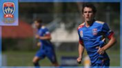 Cody Carroll in action for Newcastle Jets Youth