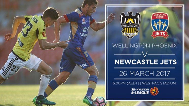 Newcastle Jets will face Wellington Phoenix in New Zealand on Sunday