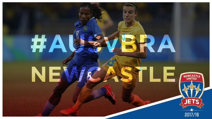 The Westfield Matildas will play Brazil in Newcastle on Tuesday 19 September 2017