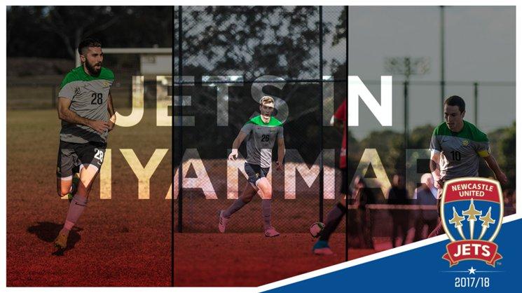 Jets Lachlan Jackson, Nicholas Cowburn & Devante Clut will spend this week in Myanmar