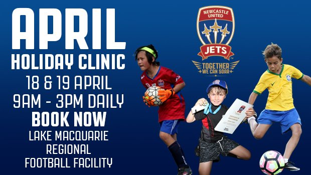 Newcastle Jets School Holiday Clinics will be held at Speers Point on April 18 & 19
