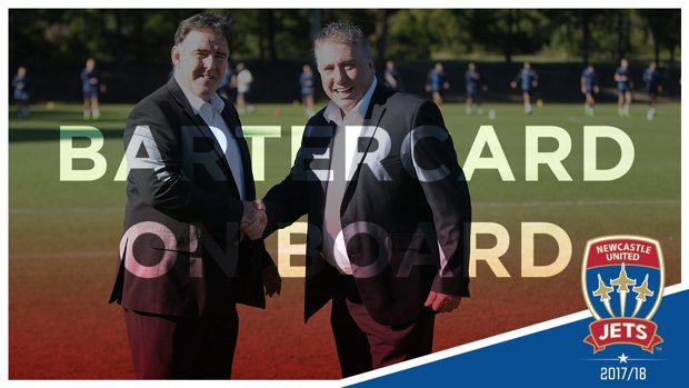 Innovative cashless business Bartercard has partnered with Newcastle Jets for the 2017/18 season