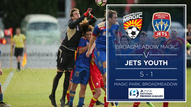 Jets Youth suffered a heavy 5-1 defeat to Broadmeadow Magic on Saturday