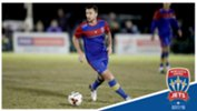 Newcastle Jets striker Roy O'Donovan scored six goals in his last friendly match