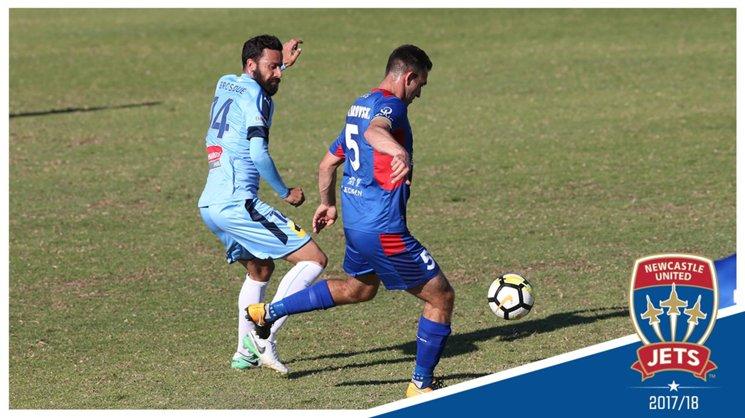 Ben Kantarovsi in action against Sydney FC