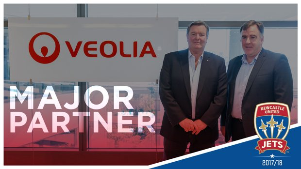 Veolia has joined Newcastle Jets as a major partner for 2017/18
