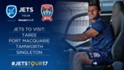 Newcastle Jets will visit Taree, Port Macquarie, Tamworth & Singleton in August