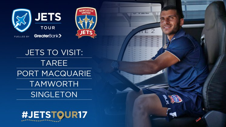 Newcastle Jets will visit Taree, Port Macquarie, Tamworth & Singleton in August