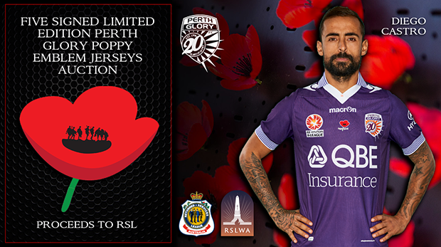 PLAYERS Signed Ltd Edition PGFC Poppy Auction WEB v2 CASTRO