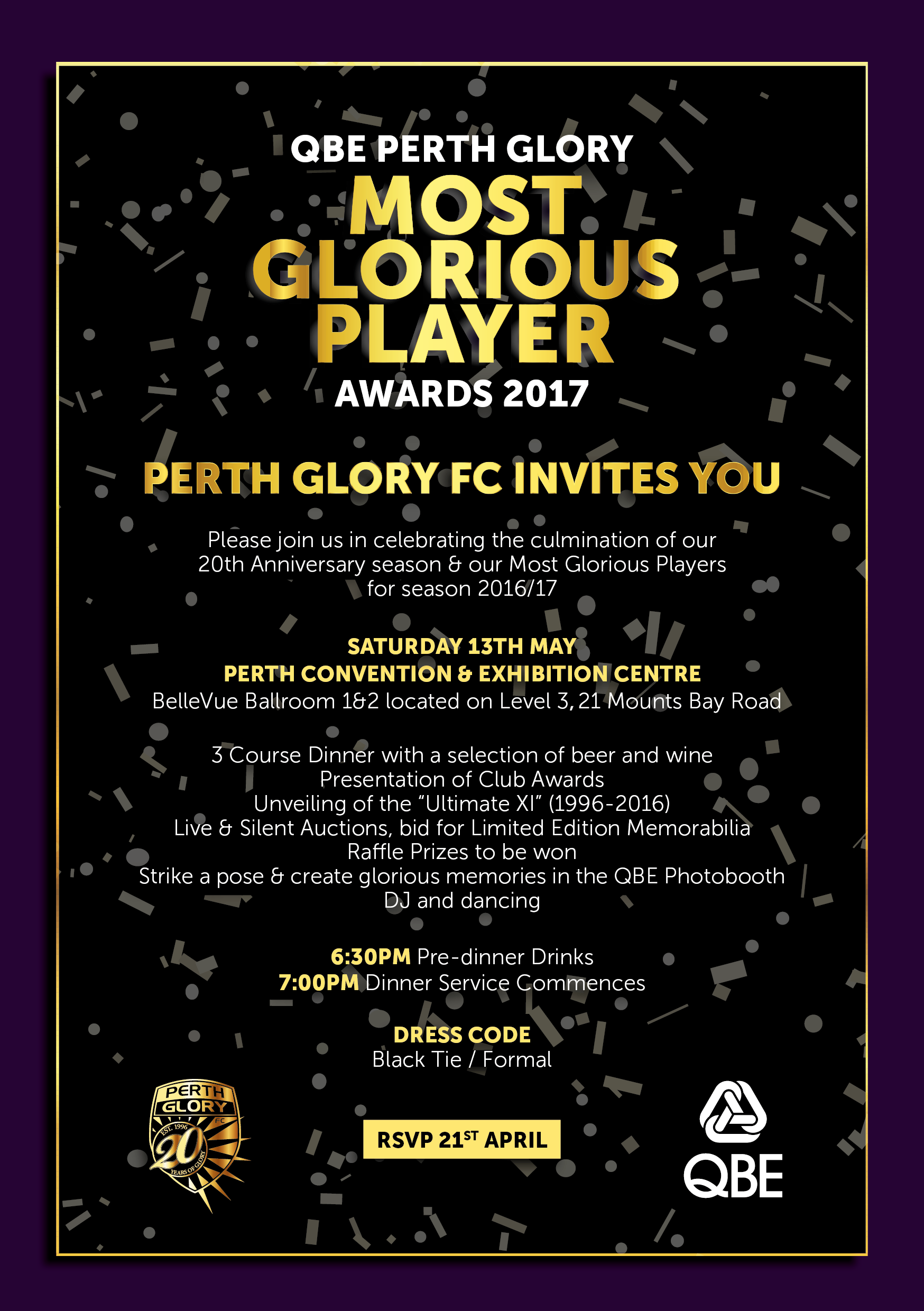 QBE PERTH GLORY MGP Invitation