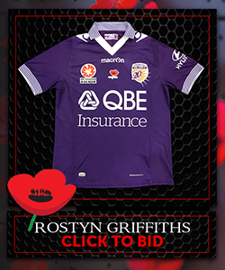Signed Ltd Edition PGFC Poppy Auction Jerseys GRIFFITHS
