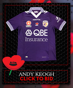 Signed Ltd Edition PGFC Poppy Auction Jerseys KEOGH