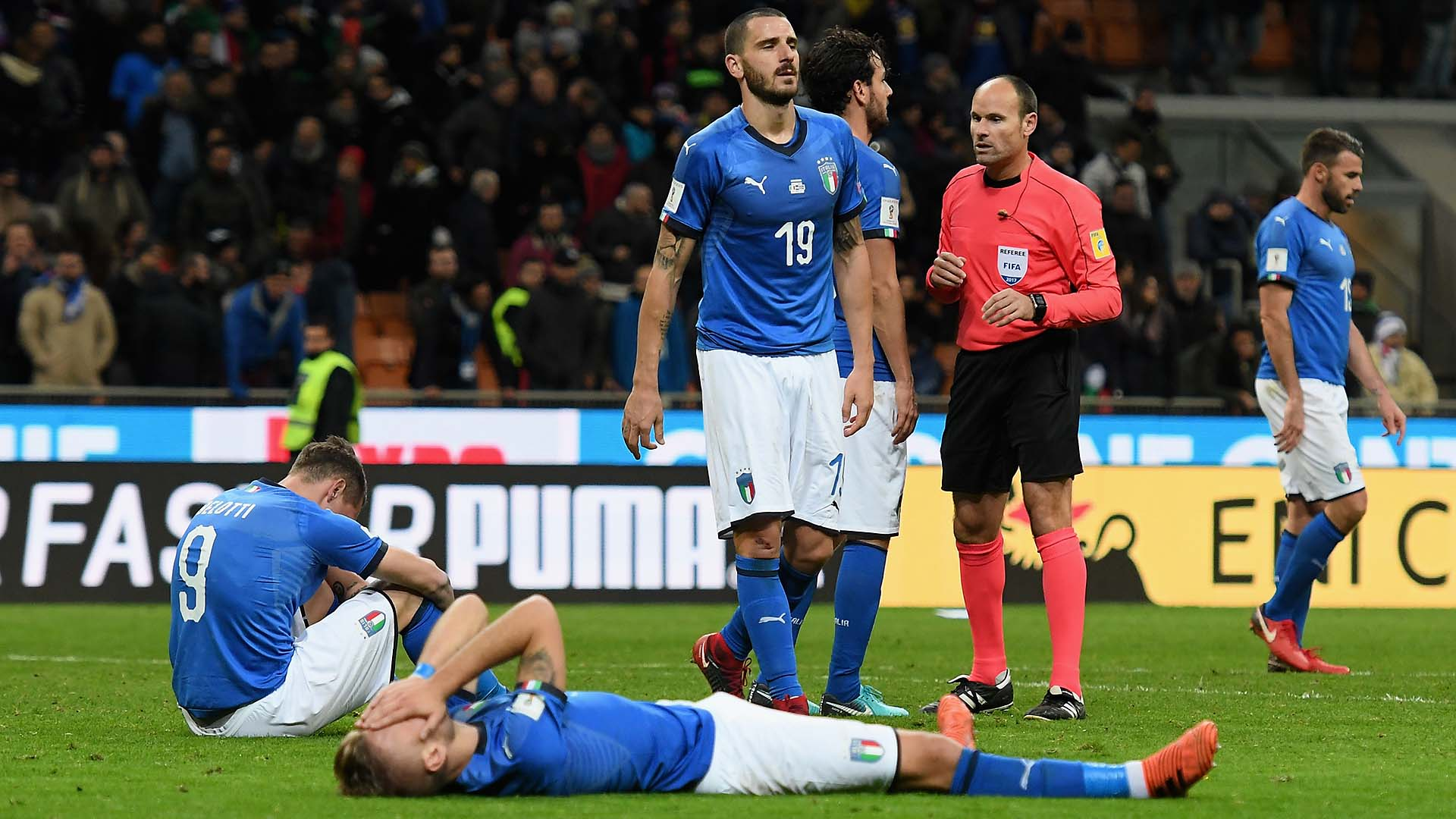 Italy coach sacked after failure to qualify for World Cup