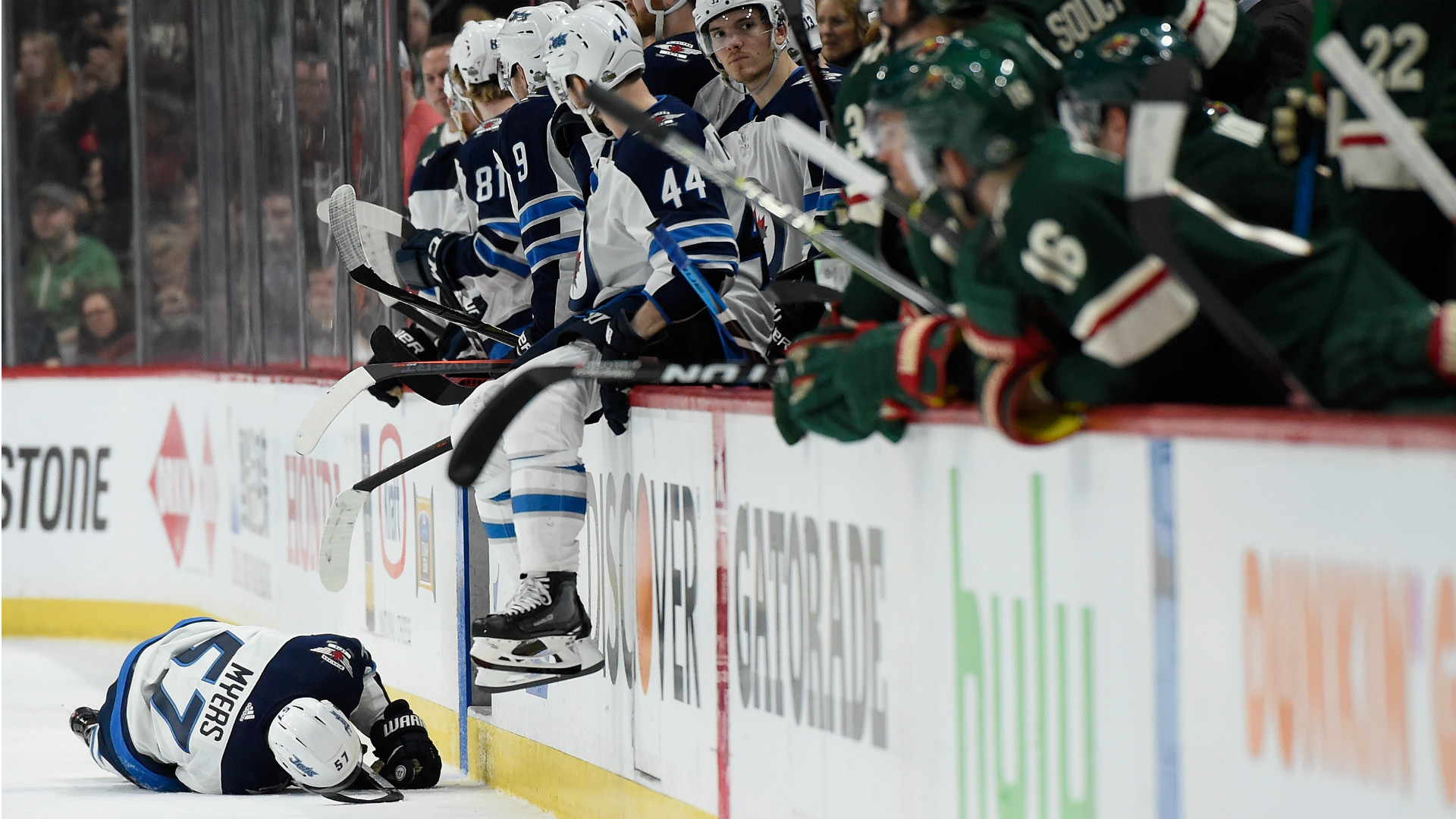 Parise's injury cuts Wild's scoring power, lose to Jets 2-0