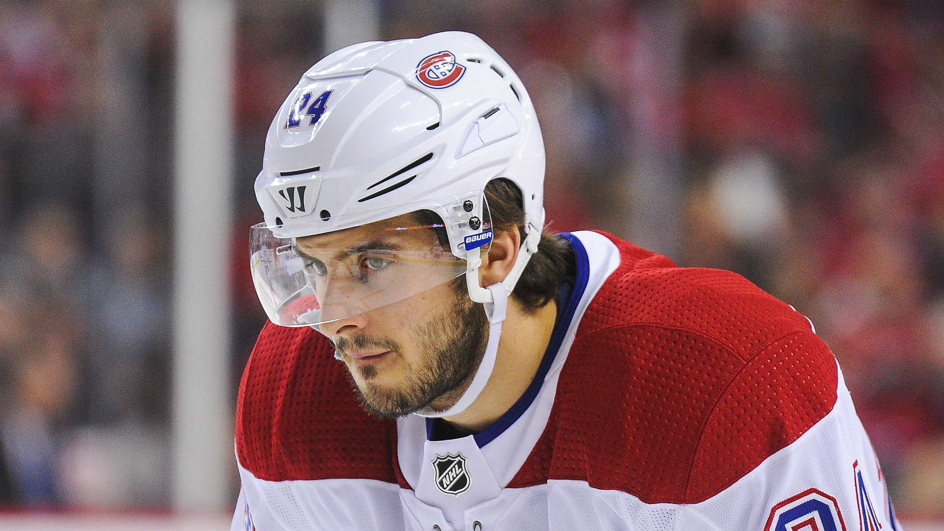 Canadiens' Danault to remain hospitalized after shot to head