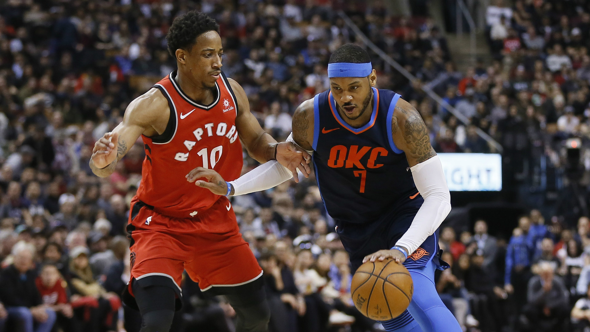 Thunder end Raptors' win streak