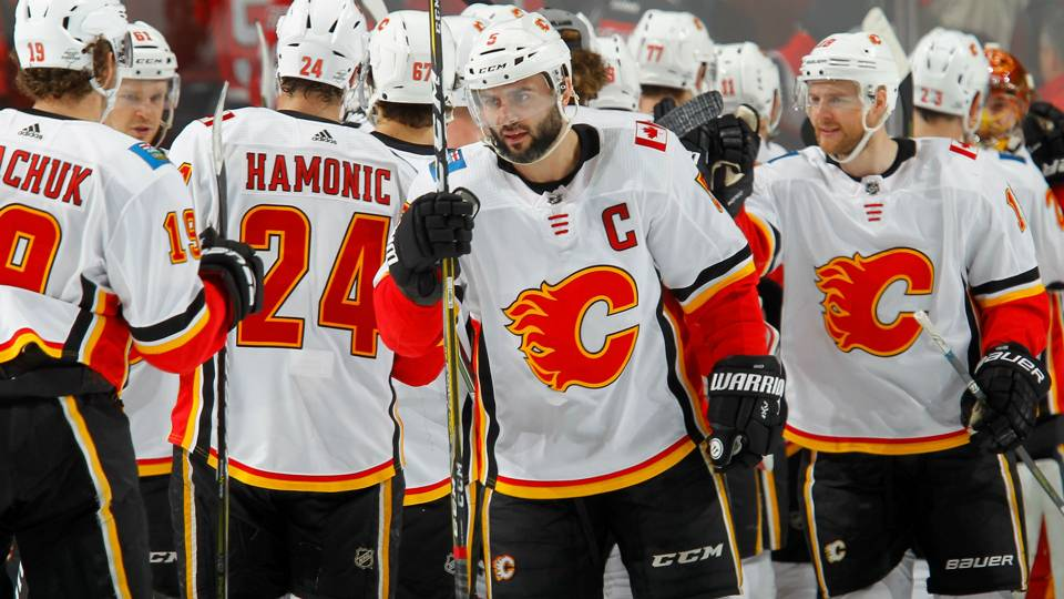 05311d4b2  It s the white jerseys   Flames try to explain road success · NHL