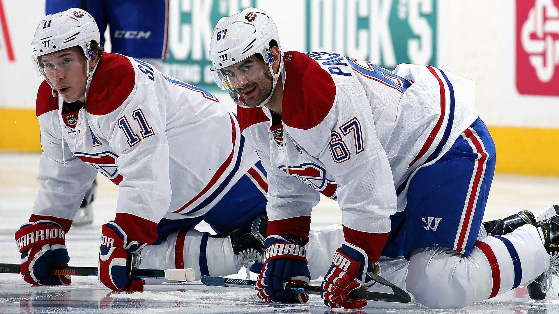 Canadiens' Danault leaves hospital day after taking puck to head