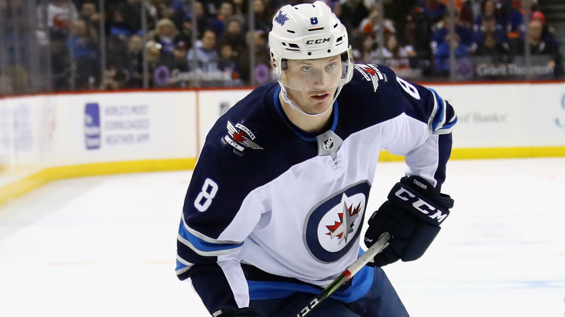 Ankle injury to sideline Jets D Jacob Trouba