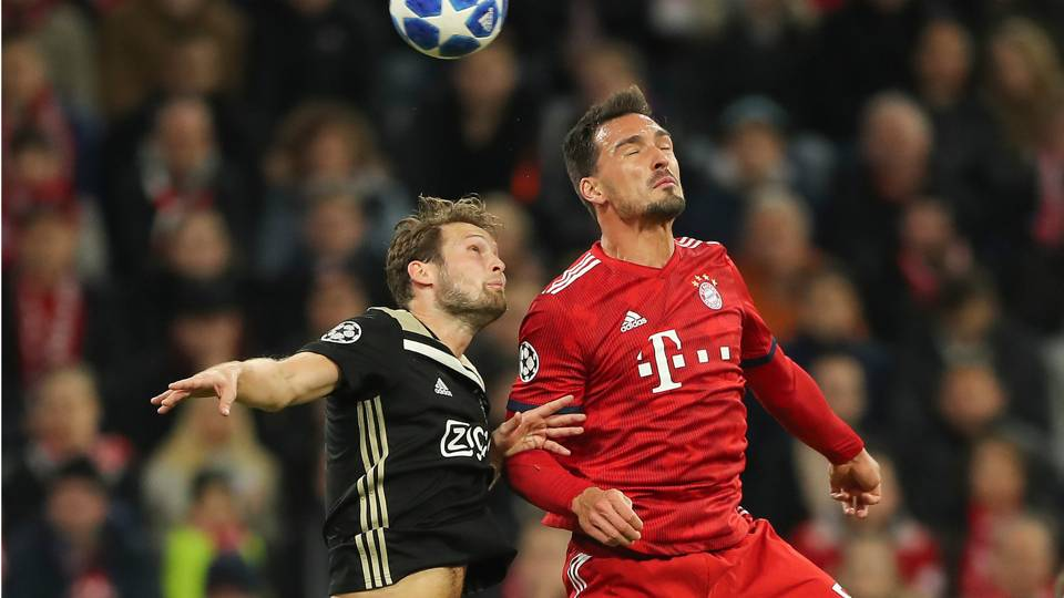 Daley Blind Mats Hummels Getty Ftr 960 Quality 70 How To Watch Ajax Vs Bayern Munich In Canada Live Stream For Champions League Group Stage Match