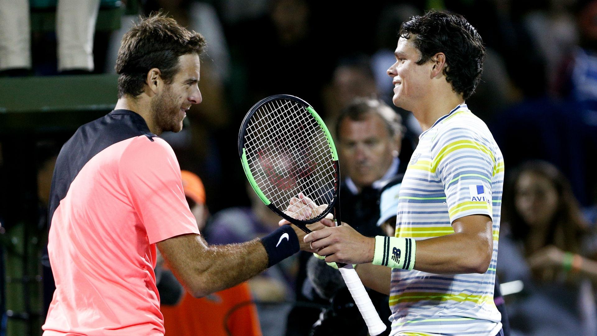 Juan Martin Del Potro Defeats Milos Raonic, Reaches Miami Open Semifinals