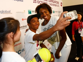 Venus Spends Time With Singapore Youth