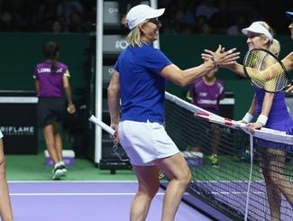 WTA Legends Event Underway