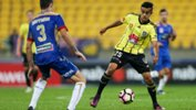 Sarpreet Singh in action against the Newcastle Jets.