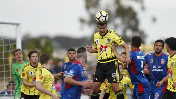 Andrija Kaludjerovic notches his first goal in Nix colours with a far post header.