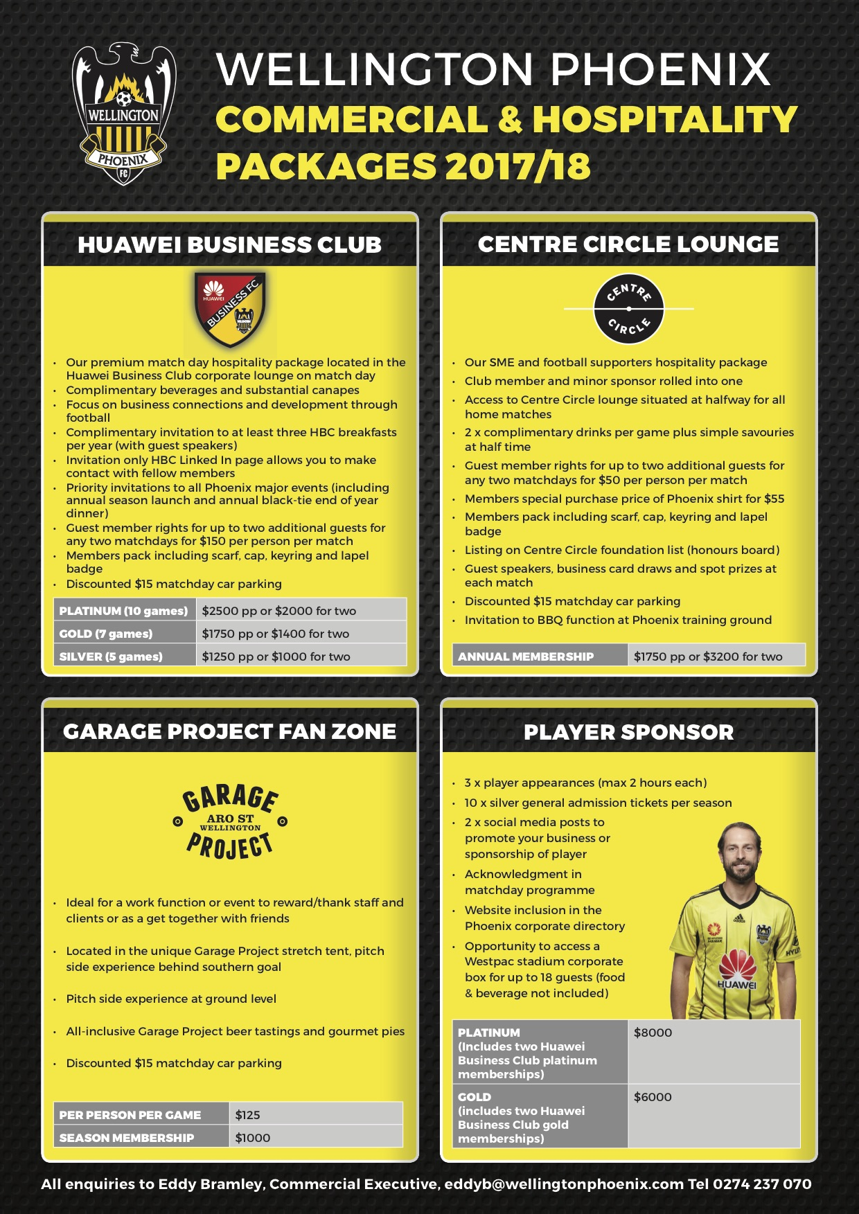 Wellington Phoenix are proud to announce their 2017/18 season corporate hospitality packages.