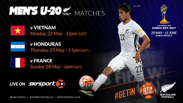 New Zealand face a tricky group at the U-20s FIFA World Cup in Korea Republic.