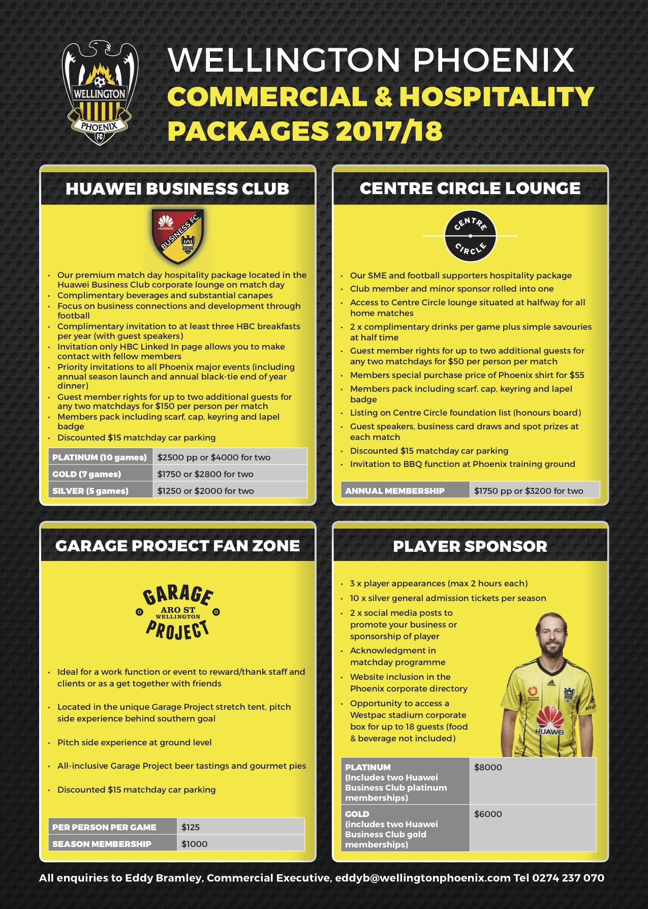 Wellington Phoenix are delighted to announce their corporate hospitality options for the 2017/2018 season.