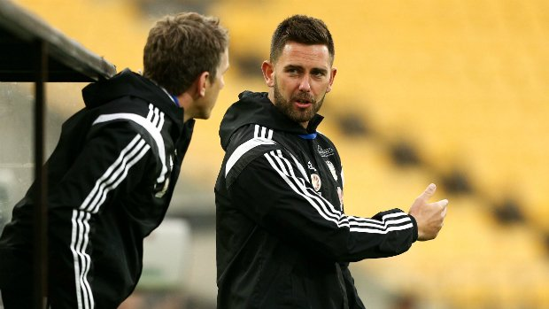 Des Buckingham and Chris Greenacre during their time in charge of the Wellington Phoenix.