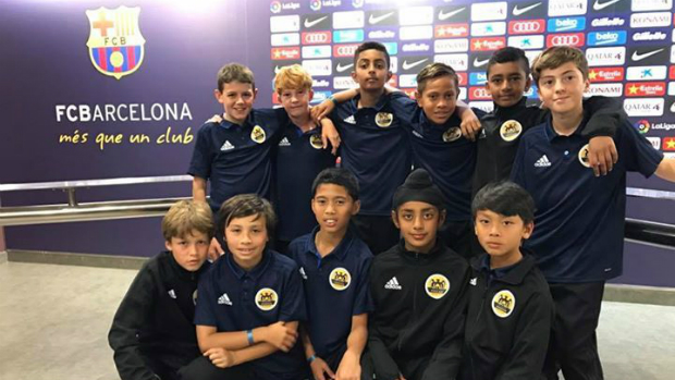 WPSS u12s boys pay a visit to FC Barcelona's on-site museum.