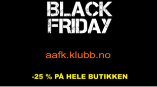 Black Friday aafk.no nettbutikk