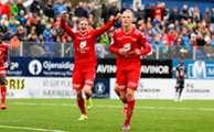 Kristiansund - Brann 0-1: Kristoffer Barmen har scoret på straffe