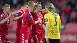 Brann - Start 1-0: Guttene jubler sammen med Steffen Lie Skålevik