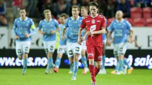 Kasper Skaanes. Brann mot Sandnes Ulf. Tippeligaen. 19. september 2014.