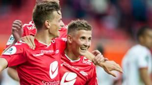 Brann - Fredrikstad: Jonas Grønner og Steffen Lie Skålevik jubler