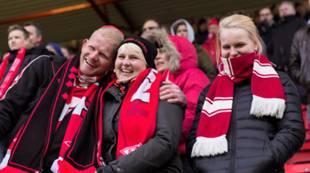 Brann - Strømmen publikum fans supportere